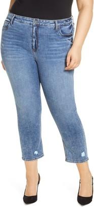 KUT from the Kloth Naomi Girlfriend High Waist Straight Leg Ankle Jeans