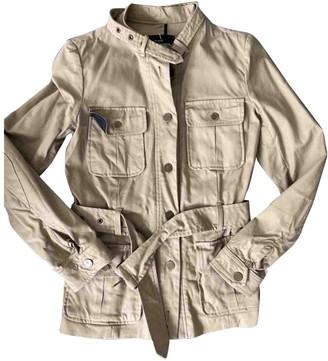 Et Vous Beige Cotton Jacket for Women