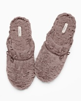 Soma Intimates Luxe Marble Slippers Mochaccino