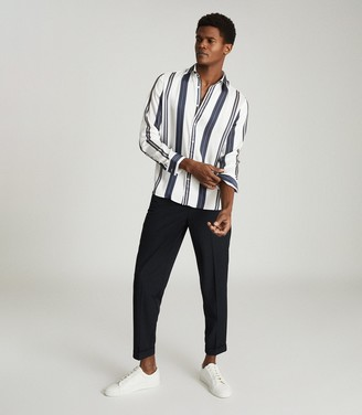 Reiss FONTAINE REGULAR FIT STRIPED SHIRT White