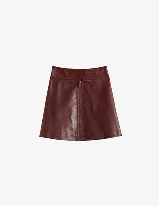 Claudie Pierlot Zipped leather mini skirt