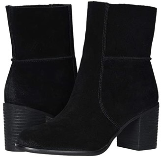 Frye Phoebe Slouch Mid (Black Suede) Women's Boots