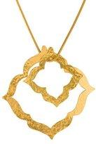 Herve Van Der Straeten Double Lotus Pendant Necklace