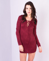 Missy Empire Rheta Wine Textured Mini Dress