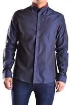Balmain Men's Blue Cotton Shirt.