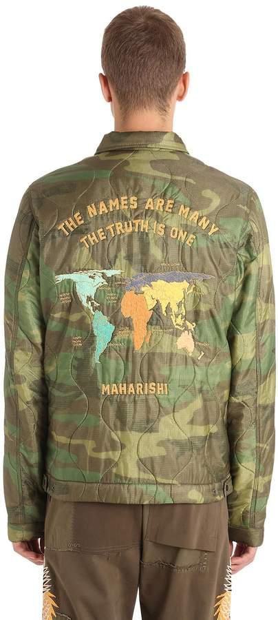 MHI World Tour Quilted Camo Nylon Jacket