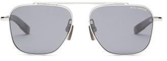Dita Eyewear Lancier Aviator Titanium Sunglasses - Mens - Black