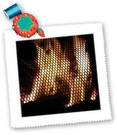 3dRose LLC qs_109013_10 Florene Abstract - Firepit Seen Thru A Screen - Quilt Squares