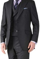 Charles Tyrwhitt Charcoal classic fit British Panama luxury suit jacket