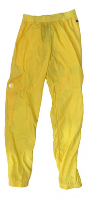 Rick Owens Yellow Synthetic Trousers
