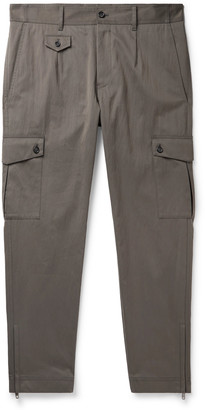 Dolce & Gabbana Slim-Fit Cotton-Blend Twill Cargo Trousers - Men - Gray