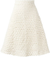 Sonia Rykiel knitted a-line skirt - women - Cotton/Spandex/Elastane - 38