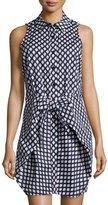 MICHAEL Michael Kors Southwestern-Print Knit Dress, Real Navy