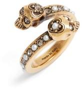 Alexander McQueen Women's Twin Skull Ring