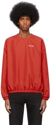 Pyer Moss Red Taffeta Crewneck Sweater