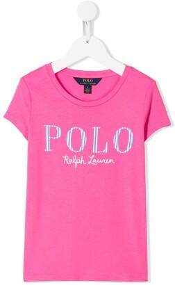 Ralph Lauren Kids logo-print long-sleeved T-shirt