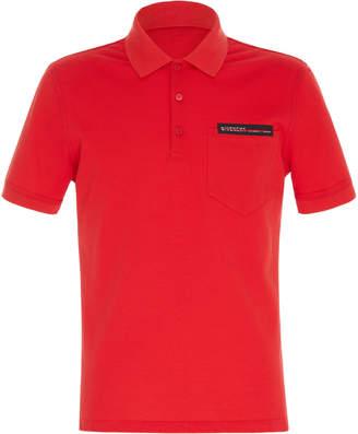 Givenchy Split-Logo Cotton Polo Shirt