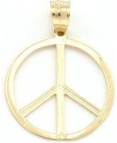 FindingKing Peace Sign Charm 14k Gold 18.5mm