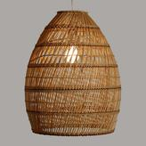 Basket Weave Bamboo Pendant Shade