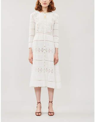 Reformation Elsie Long-Sleeved Cotton Midi Dress