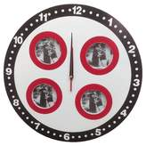CMI Round Clock with 4 Photo Frames Black/White/Red - Creative Motion Industries®