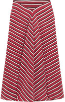 Altuzarra Striped Silk Crepe De Chine Skirt - Claret