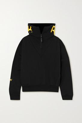 Reebok x Victoria Beckham Embroidered Cotton-jersey Sweatshirt - Black