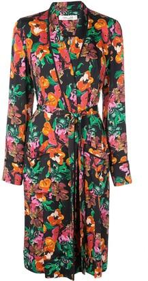 Dvf Diane Von Furstenberg Floral Print Trench Coat