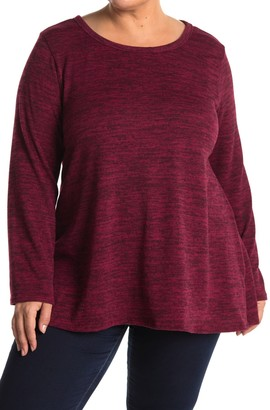 Forgotten Grace Long Sleeve Brushed Hacci Two-Tone Top
