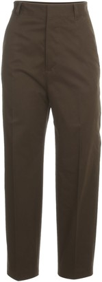 DSQUARED2 Pants High Waist Gabardine Cotton Stretch