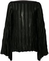 Chloé pleated sheer blouse - women - Cotton/Viscose - XS