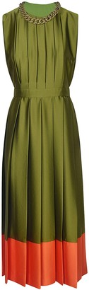 MSGM Pleated Sleeveless Dress