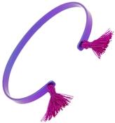 EYE M by Ileana Makri Purple Titan Cuff Bracelet - Fuchsia Tassels