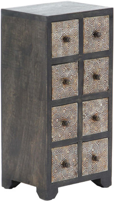 Uma Enterprises Wood Metal Jewelry Chest