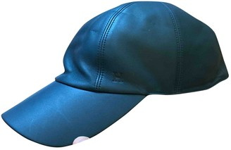 Hermes Blue Leather Hats & pull on hats