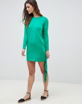 Asos Design T-Shirt Dress With Cape Back