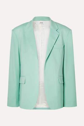 ATTICO Wool-blend Gabardine Blazer - Light green