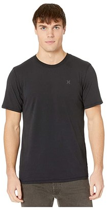 Hurley Dri-Fit Staple Icon Reflective Short Sleeve Tee (Black) Men's T Shirt