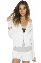 Peace Love World I am Love® White Love2Live Tyson Zip Hoodie