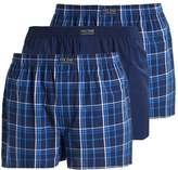 Pier One 3pp Blue Check Boxer Shorts Blue