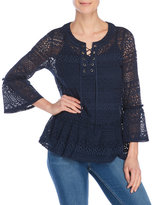 Fever Bell Sleeve Lace Blouse