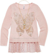 Knitworks Knit Works Long Sleeve Layered Top - Big Kid