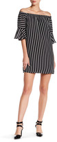 Romeo & Juliet Couture Off-the-Shoulder Butterfly Sleeve Stripe Dress