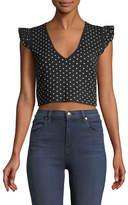 Club Monaco Scoobalyn Polka-Dot Print Cropped Sweater