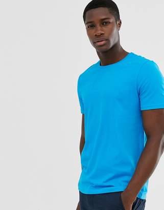 Benetton plain crewneck t-shirt-Blue