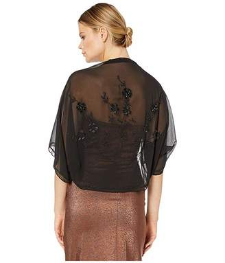 Vince Camuto Trailing Floral Bead Cocoon Shrug