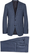 Etro - Blue Slim-fit Checked Wool Suit