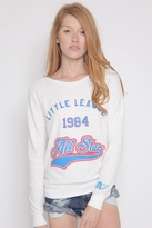 Rebel Yell Little League Vintage Pullover in White