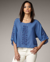 Embroidered Parker Top
