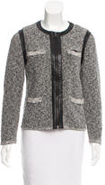 Rag & Bone Leather-Accented Zip-Up Cardigan